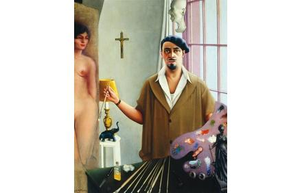 Archibald J.  Motley Jr.  (1891—1981), Self-Portrait (Myself at Work), 1933.  Oil on canvas, 57.125 x 45.25 inches (145.1 x 114.9 cm).  Collection of Mara Motley, MD, and Valerie Gerrard Browne.  Image courtesy of the Chicago History Museum, Chicago, Illinois.  © Valerie Gerrard Browne