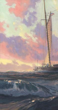 The work of Russ Kramer will be presented at the 17th National Exhibition of the American Society of Marine Artists opening at the Chesapeake Bay Maritime Museum and Academy Art Museum on December 10, 2016.  The exhibition continues through March 31, 2017 and includes more than 120 works of painting, sculpture, and scrimshaw from the nation's leading marine artists.
