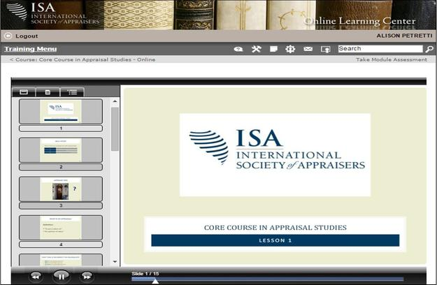 International Society of Appraisers (ISA) is now offering their Core Course in Appraisal Studies online.