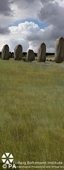Artist's rendering of the new discovery near Stonehenge.