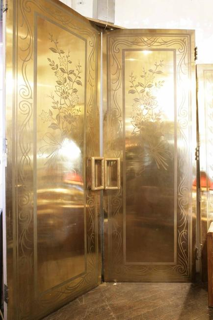 Double gold-leaf doors from the Clift Hotel San Francisco will be part of Witherell's June 12 auction of Shaw's Antiques.