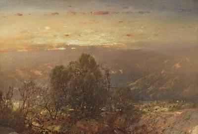 "William Louis Sonntag (1822-1900) - ""Mountain Sunset"" - courtesy Questroyal Fine Art, LLC"
