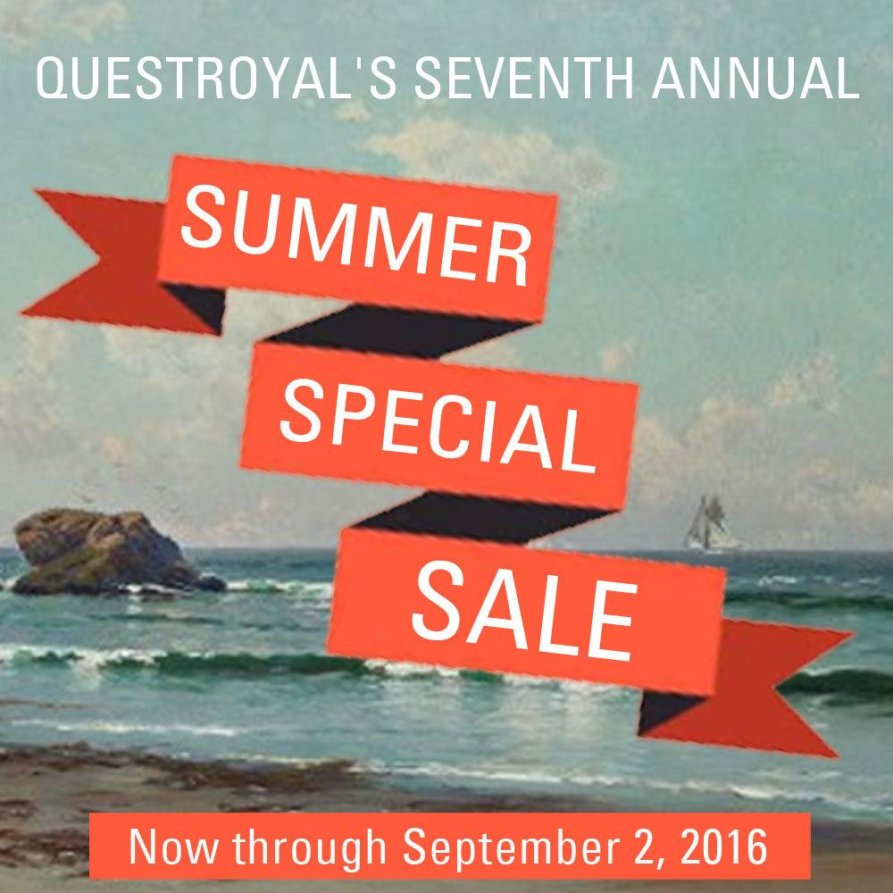 Questroyal's Seventh Annual Summer Special Sale, Now through September 2, 2016