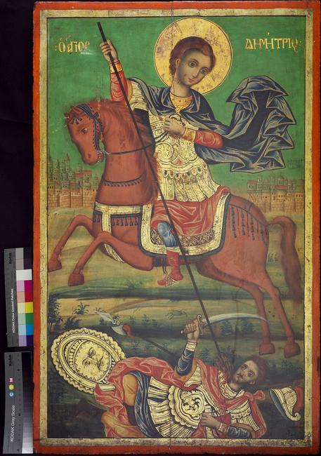 St.  Demetrius at Mt.  Athos_Courtesy Museum of Russian Icons
