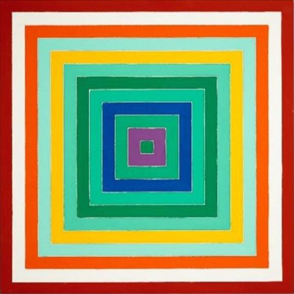 Frank Stella Scramble, Ascending Spectrum / Ascending Green Values, 1977 Estimate: £2,000,000-3,000,000