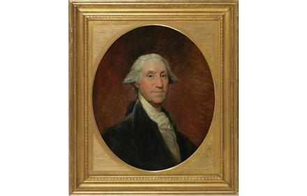 "Gilbert Stuart (American, 1755-1828), The ""Nicklin"" Portrait of George Washington, oil on canvas, 28 ½ x 24 ½ inches"