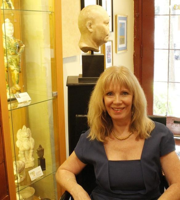 Dealer Sue McGovern-Huffman of Sands of Time Antiquities, Georgetown, DC