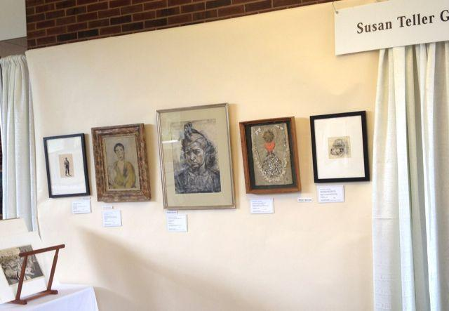 Part of the Susan Teller Gallery booth at the 2015 St.  Louis Mercantile Library Fair.