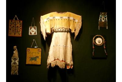 Turn of the Century Cheyenne Child's Dress, with German Silver Concha Belt, So.  Plains