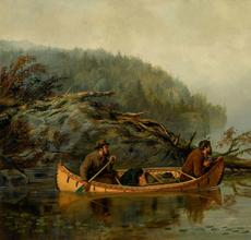 Arthur F.  Tait (1819–1905), A Slight Chance, 1883, oil on canvas, 20 x 30 in, Estimate: $400,000–$600,000