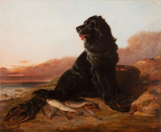Arthur Fitzwilliam Tait (1819-1905), Guarding the Catch, oil on canvas, 24.5 by 29.5 inches, Estimate: $125/175,000