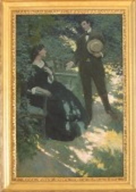 "N.C.  Wyeth painting ""The Lovers"""