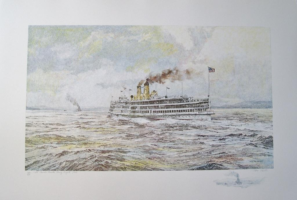 The Alexander Hamilton Passing Kingston Point -limited edition artist remarque print.