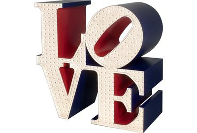Robert Indiana, The Electric LOVE, 1966/2000.  Polychrome aluminum with electric lights.  Private collection.  © 2014 Morgan Art Foundation, Artists Rights Society (ARS), New York