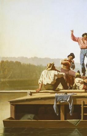 The Jolly Flatboatmen, George Caleb Bingham, 1846, oil on canvas.  National Gallery of Art, Washington.  Patrons' Permanent Fund.  2015.18.1
