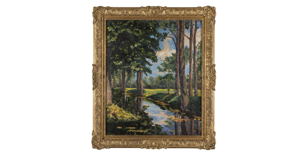 Property from the Onassis Family Collection, Sir Winston L.S.  Churchill The Moat, Breccles, Painted circa August 1921.  Estimate: $1,500,000-2,000,000