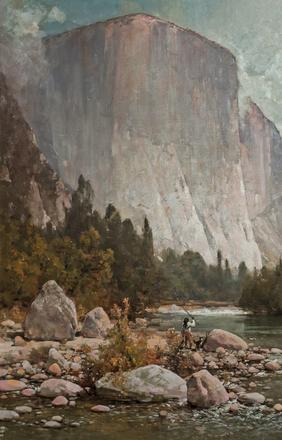 This stunning oil on canvas Yosemite scene by Thomas Hill (Am., 1829-1908) was the top lot of the auction, selling for a robust $180,000.