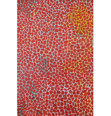 Alma Thomas (1891–1978), Red Rambling Rose Spring Song, 1976 acrylic on canvas, 53 1/8 x 35 1/4 inches / 134.9 x 89.5 cm, signed