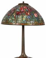 This stunning Tiffany Studios Red Tulip table lamp, 21 1/2 inches tall, will be sold Oct.  19th.
