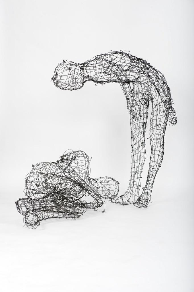 Elizabeth Keithline, Detail: Smarter, Faster, Higher; 2010, Steel wire