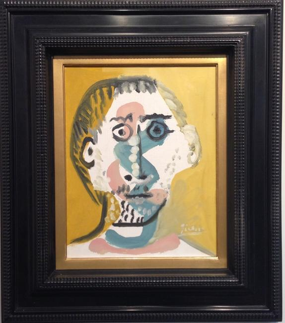 Tête d'Homme Pablo Picasso (1881-1973) Oil on canvas Signed lower right 'Picasso' and dated on the reverse '2.4.65.IV' 1965