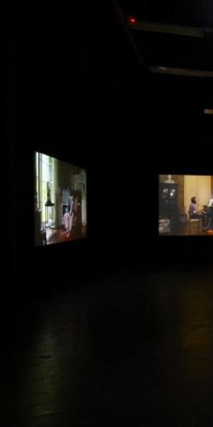 Ragnar Kjartansson, The Visitors, Luhring Augustine, New York, February 1–March 23, 2013, photographs: Farzad Owrang.  © Ragnar Kjartansson; Courtesy of the artist, Luhring Augustine, New York and i8 Gallery, Reykjavik.