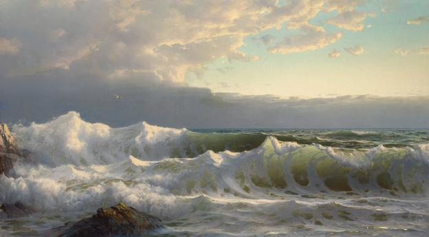 William Trost Richards (1833-1905), Stormy Seas with Whitecaps, 1904.  Est.  $100,000-150,000