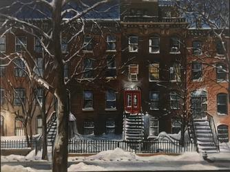 """Warren Street Winter by Robert Weiss"
