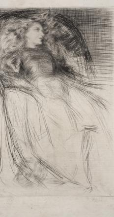 James McNeill Whistler (1834 – 1903) Weary, 1863.  Drypoint and roulette.