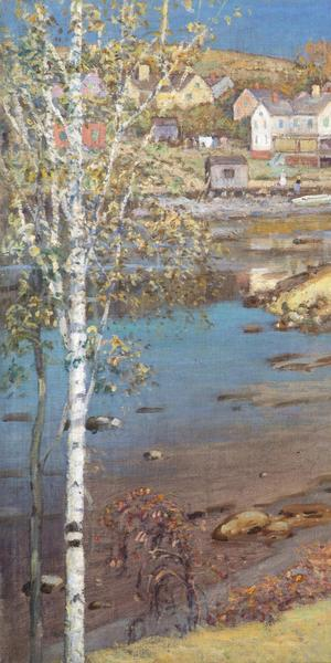 'The Lower River, Ipswich,' circa 1908, by Theodore Wendel (1857-1932), oil on canvas mounted to panel, 30 1/2 x 37 1/2 inches, signed lower right: 'Theodore Wendel'