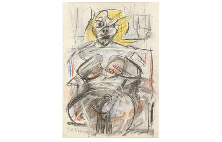 This original pastel and mixed media on paper drawing by Willem de Kooning could bring $700,000-$900,000 at a May 2-3 auction in Atlanta, Ga.
