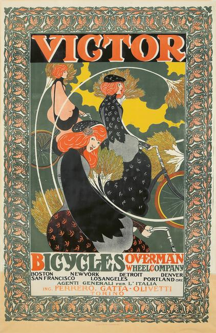 William H.  Bradley, Victor Bicycles / Overman Wheel Co.  1896.  (est.  $20,000-$25,000).