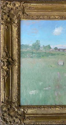 William Merritt Chase, Shinneock Hills from Canoe Place, Long Island.  Oil on canvas.