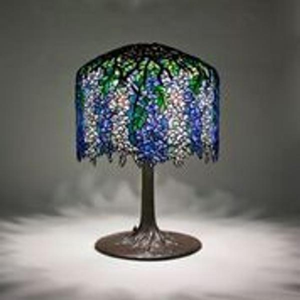 Tiffany Studios Wisteria Table Lamp Height: 27 inches Diameter: 18 inches American, circa 1906 Signed