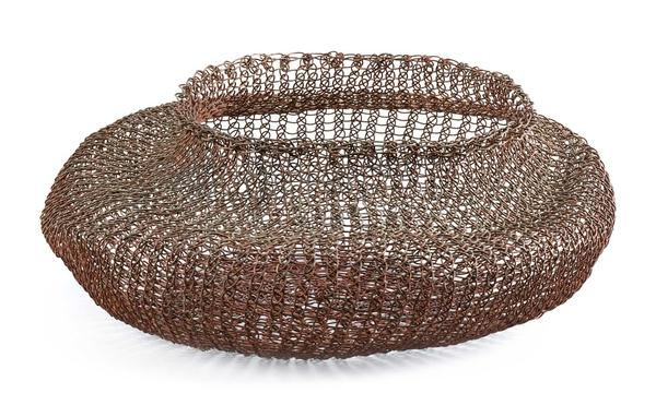 Woven wire basket by Ruth Asawa.