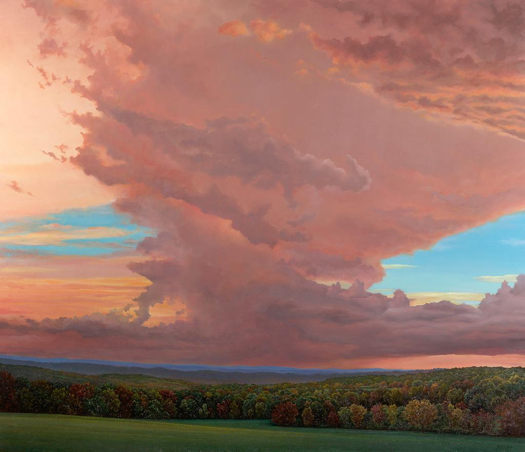 Tom Yost Storm Approaching Painter Ridge, 2016 Oil on linen 30 x 35 inches Signed and dated lower right: Yost 2016