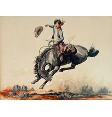 Will James, Young Cowboy, 1935, pen, ink, and watercolor; The Abe Hays Family Will James Collection.