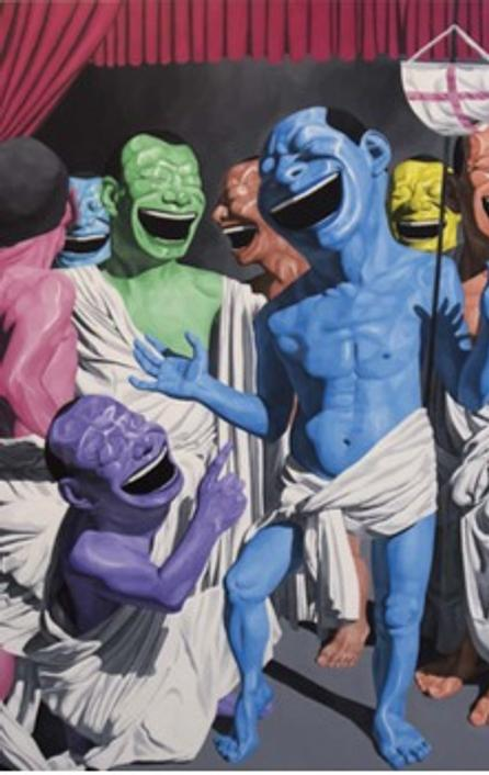 Yue Minjun The Resurrection, 2010 Oil on canvas, 153.5 x 129.9 in