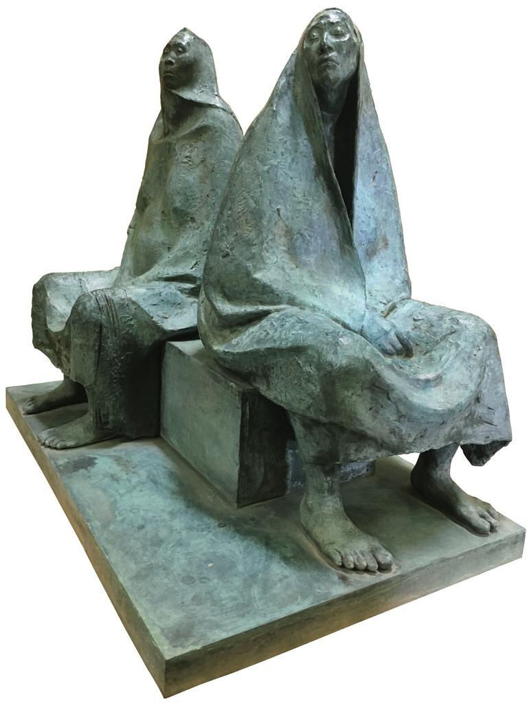 "Francisco Zúñiga, ""Madre e Hija Sentada"", 1975, bronze, 47 ¼ x 55 ¼ x 33 ¾ inches"
