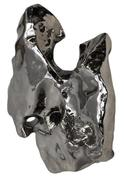 An expected top lot of the auction is this stainless steel sculpture by the Chinese sculptor Zhan Wang (b.  1962), titied Artificial Rock #53.