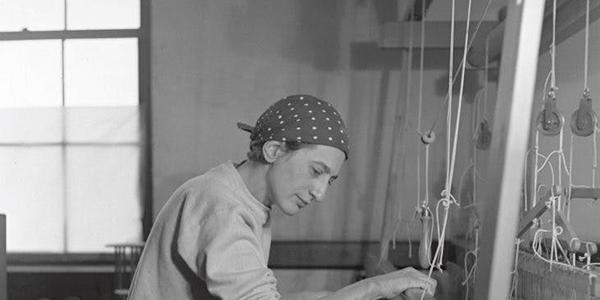 Anni Albers at Black Mountain College.  Courtesy of the Western Regional Archives, State Archives of North Carolina.  Photographer: Helen Post Modley