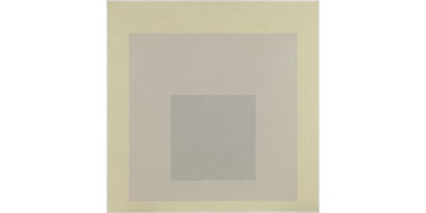 Josef Albers, Homage to the Square (It Seems), 1963, oil on panel, 39 7/8 x 40 inches.  Philadelphia Museum of Art: Gift of the Friends of the Philadelphia Museum of Art, 1968.  © 2019 The Josef and Anni Albers Foundation / Artists Rights Society (ARS), New York
