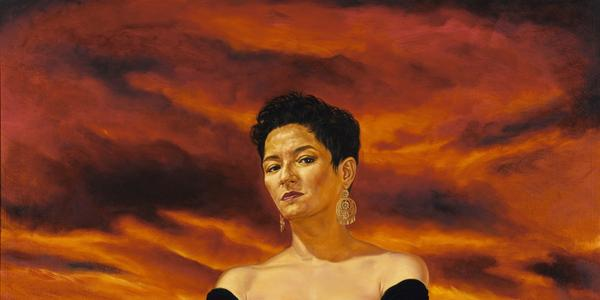 Angel Rodríguez-Díaz, The Protagonist of an Endless Story, 1993, oil on canvas, Smithsonian American Art Museum, Museum purchase made possible in part by the Smithsonian Latino Initiatives Pool and the Smithsonian Institution Collections Acquisition Program, 1996.19, © 1993, Angel Rodriguez-Diaz