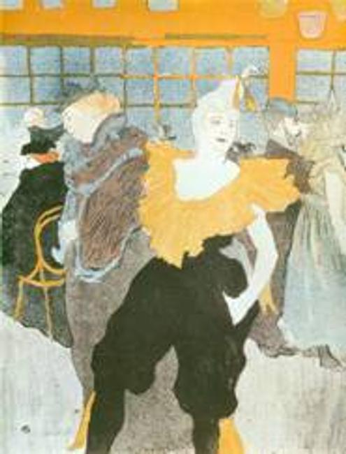 "Henri de Toulouse-Lautrec, ""La Clownesse au Moulin Rouge"" (1897) from the Stein Collection."