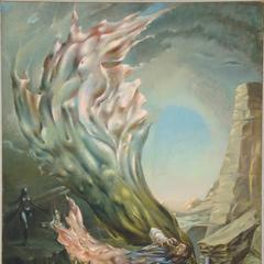 Dorothea Tanning (1910-2012), The Temptation of St.  Anthony, painted in 1945-1946.  Oil on canvas in the artist's painted frame.  47⅞ x 35⅞ in (121.4 x 91.2 cm).  Estimate: $400,000-600,000.  This work is offered in the Impressionist and Modern Art Day Sale on 16 May at Christie's in New York