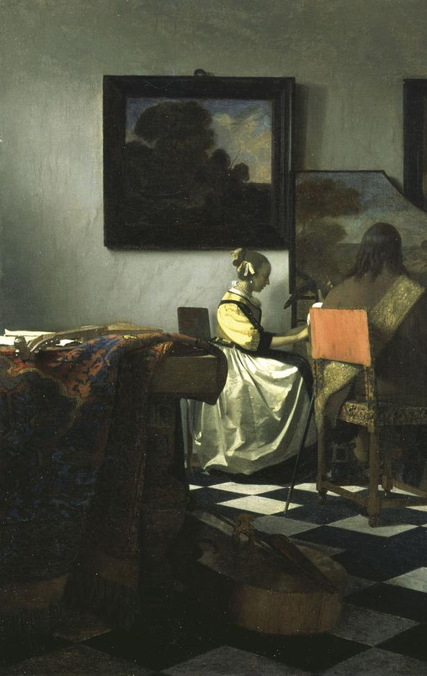 Vermeer's The Concert.  Whereabouts unknown since the Isabella Stewart Gardner Museum theft in 1990.