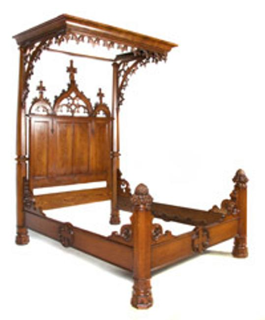 An exceptional Gothic revival bed sold for $7,930.