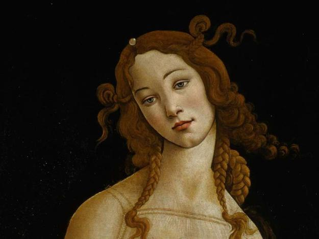 Sandro Botticelli and workshop, Venus (detail), about 1484–90.  Oil on canvas, transferred from panel.  Galleria Sabauda, Turin.  lnv.  172.