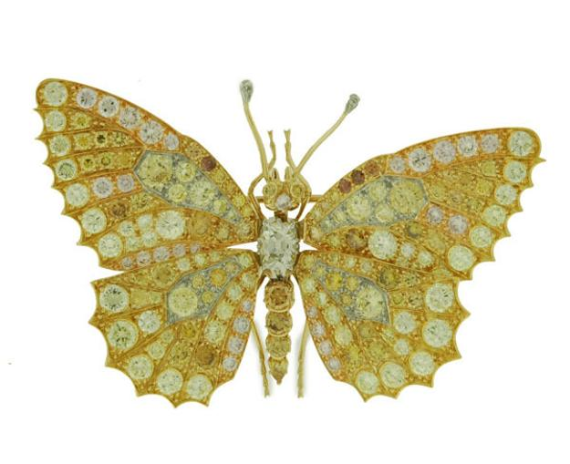 Asprey & Co.  Butterfly Brooch brought $21,500 at Antique Helper's February 19 auction
