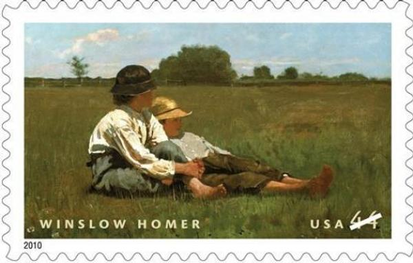 The US Postal Service released a new stamp featuring a Winslow Homer painting on Aug.  12.